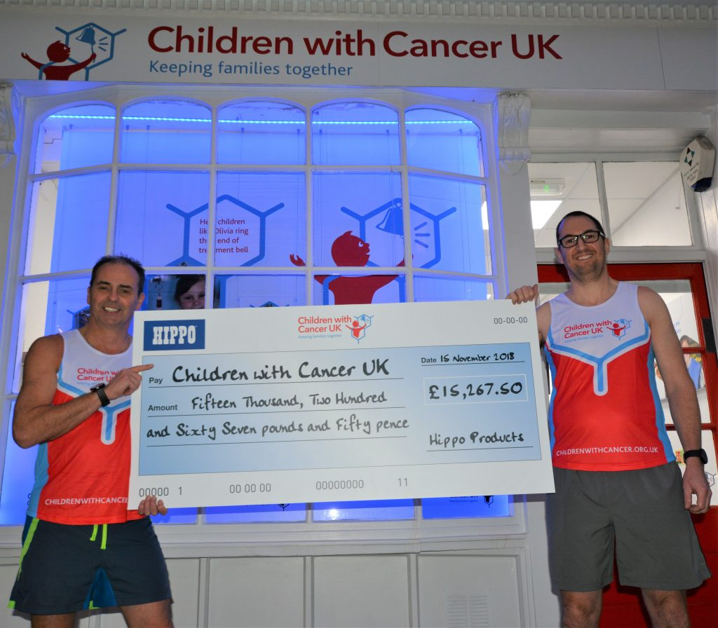 Children with Cancer cheque presentation